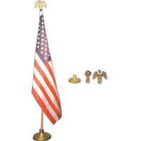 Mounted USA flag set