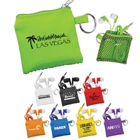 Sporty Pouch and Colorful Ear Buds