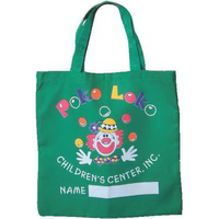 Colored Poly-Cotton Twill Medium Flat Tote Bag