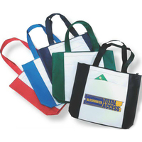 Poly zipper tote bag