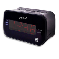 Supersonic Bluetooth CLOCK RADIO WITH AM/FM RADIO