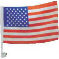 USA car flags