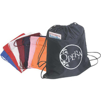 Nylon Drawstring Cinch-Up Backpack