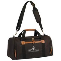 Leatherette Accent Duffel Bag