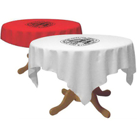 Draped circle table throw