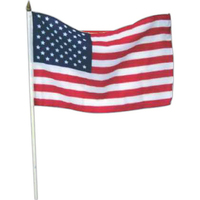 "12"" x 18"" USA stick flags"