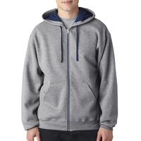 Adult NuBlend (R) Contrast Full-Zip Hooded Sweatshirt