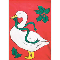 Christmas Goose Theme Event Flag