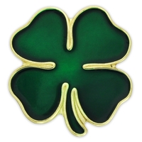 Holiday - Green Four Leaf Clover Lapel Pin
