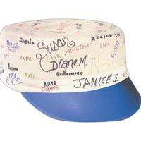 Blank signature cap