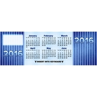 Beautiful Blue Keyboard Calendar