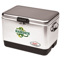 54 Quart Steel Belted Cooler - Stainless Steel