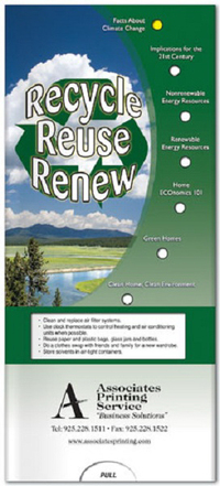 Recycle, Reuse, Renew Pocket Slider