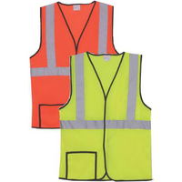 Single Stripe L/XL Yellow Solid Safety Vest