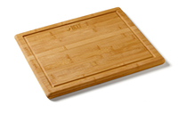 "11 1/2"" x 13 1/2"" Bamboo Cutting Board w/Dripwell"