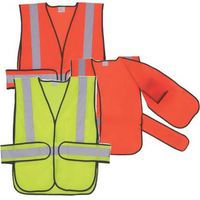 Yellow Solid Side Strap Safety Vest