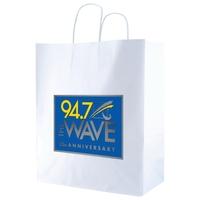 White Kraft Shopping Bag