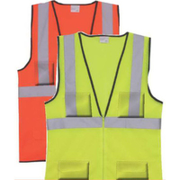 L/XL Yellow Solid Zipper Safety Vest