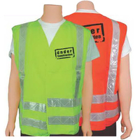 ANSI class II orange/white safety vest