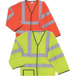 S/M Yellow Solid Long Sleeve Safety Vest