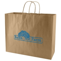 50% Recycled Natural Kraft Shopping Bag