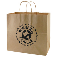100% Recycled Natural Kraft Shopping Bag