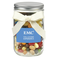 12 oz Glass Mason Jar With Jelly Belly® Jelly Beans