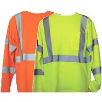 Yellow S/M Long Sleeve Hi-Viz Safety T-Shirt