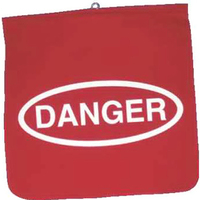 Red twill danger flag