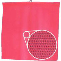 Fluorescent orange mesh flag