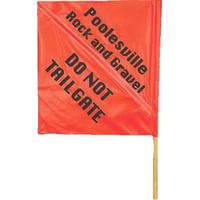 Handheld vinyl hazard flag