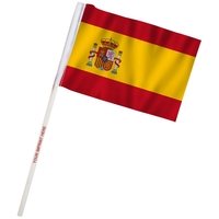 "4"" x 6"" Spain Imprinted Staff Polyester Stick Flags"