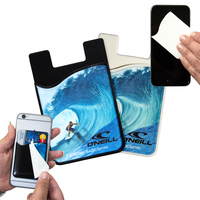 2-in-1 Silicone Phone Wallet w/ Removable Screen Cleaner