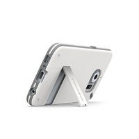 PureGear Slim Shell With Kickstand For Galaxy S6 -White/Gray