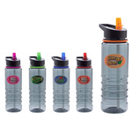 24 oz. Triton Flip-Top Water Bottle w/ Full Color Imprint
