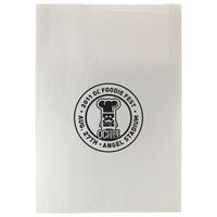 White Kraft Paper Merchandise Bags