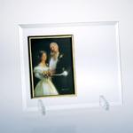 "Beveled Flat Glass Vertical Photo Frame 6"" x 4"""