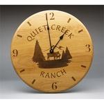 "12"" - Wood Clocks - Wall - Laser Engraved"