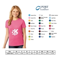 PORT and COMPANY LADIES TAGLESS T-SHIRT
