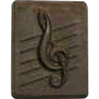 Chocolate Treble Clef Square