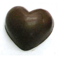 Chocolate Heart Small Puffy