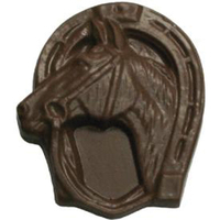 Chocolate Horse Head In Horse Shoe
