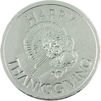 Happy Thanksgiving Chocolate Coin