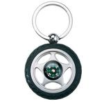 Tire key chain / compass