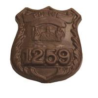 Chocolate Police Badge