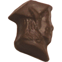 Chocolate Graduate Girl Head