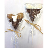 Chocolate Moose Head-Peanut Butter Dipped Antlers-On A Stick
