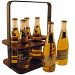 Wood 6 Pack Beverage Carrier