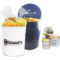 Popcorn Tin with Trio of Butter, Cheddar and Caramel Popcorn