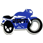 Jumbo size motorcycle shape magnetic bottle opener